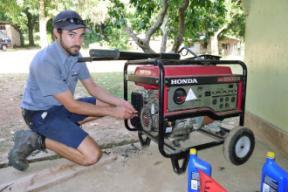 Matt Sosna at work! The master mechanic!