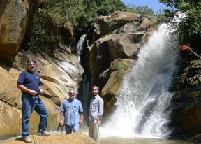 Assop Falls with Rick Bradford, Gregg and  Stephen Bryce