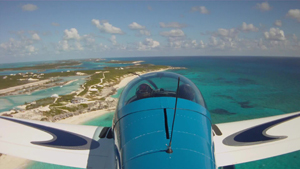 Michael Zidziunas flying his Breezer Aircraft to the Bahamas