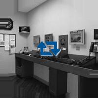 Flight Planning Room Black & White