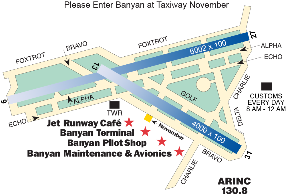 Fort Lauderdale Executive Airport map