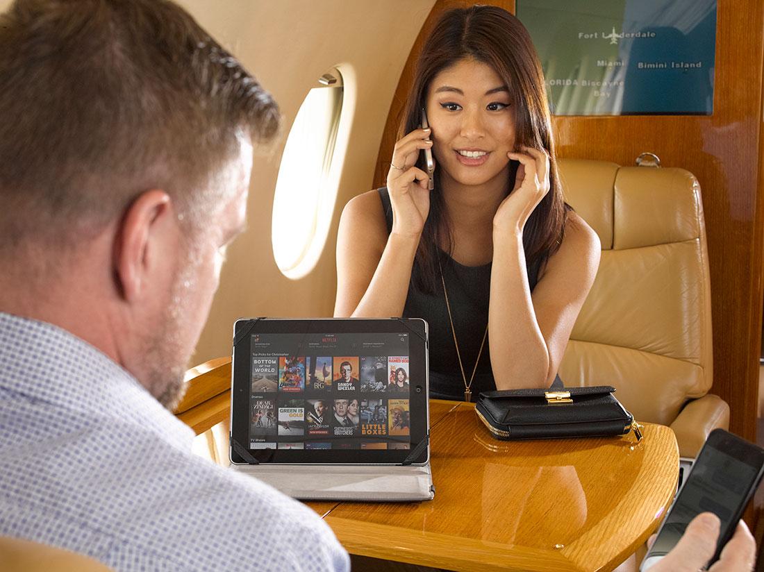 Corporate jet wifi installation