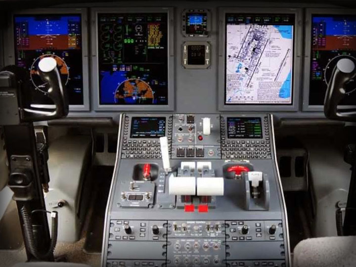 efis on corporate jet
