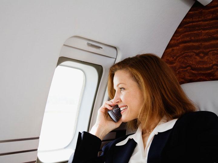 satcom on airplane