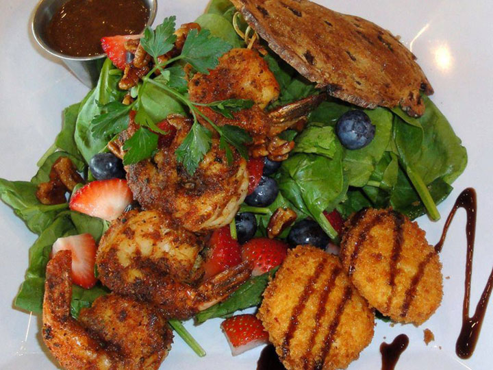 Jet Runway Café shrimp salad