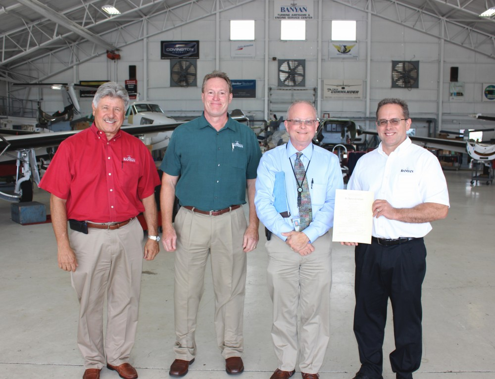 Banyan Receives New FAA Repair Station Certificate