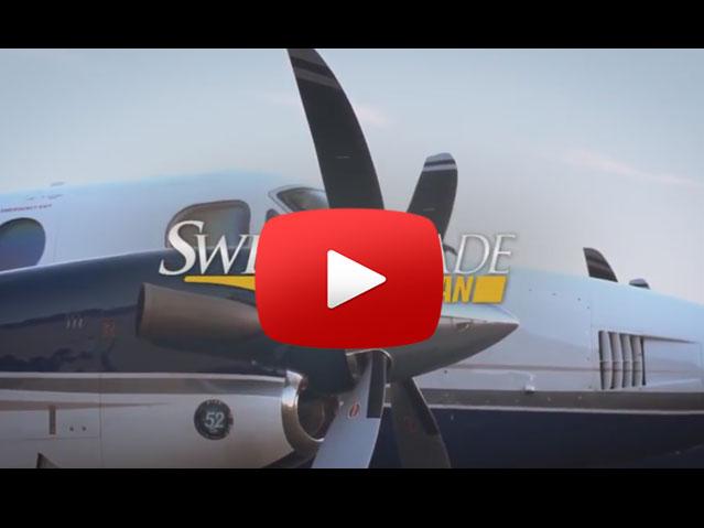 Raisbeck Engineering Swept Blade Turbofan Prop Video