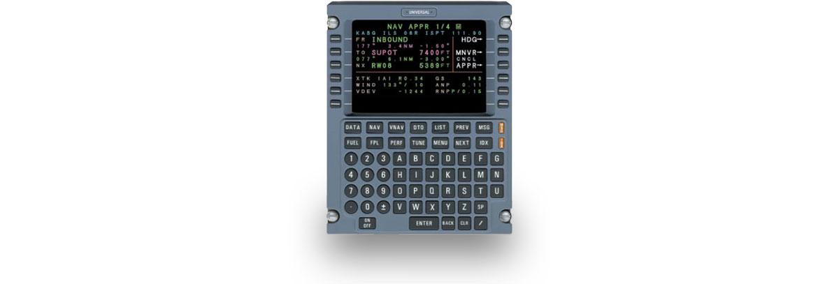 MCDU - Multi-Function Control Display Unit - Universal Avionics