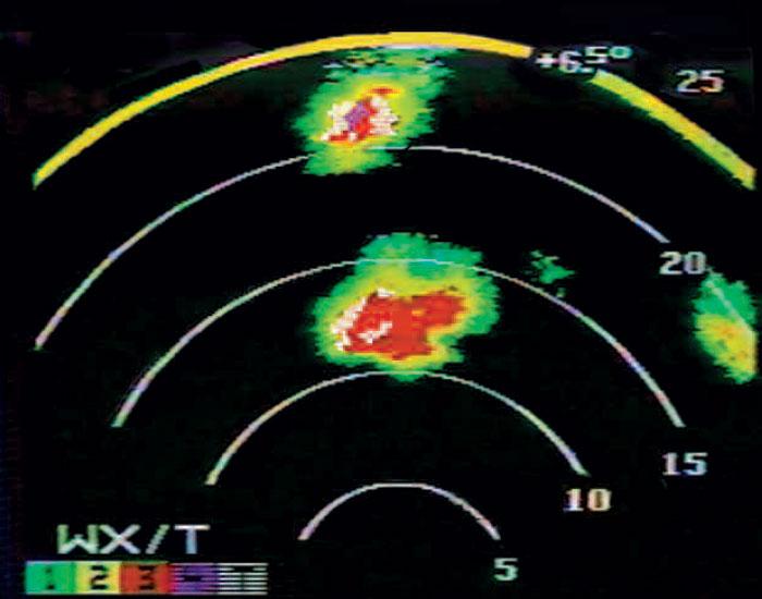 Honeywell Primus 880 Turbulence Detection
