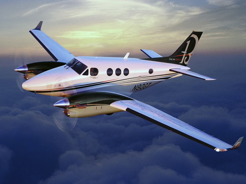 BLR Winglets King Air clouds