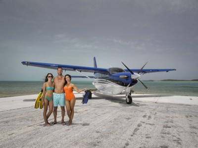 Flying to the Bahamas