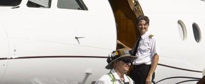 business jet pilot