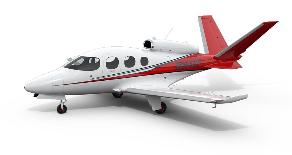 Cirrus SF50-Vision Jet on display
