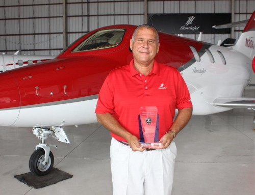 Gibson Receives Top HondaJet Sales Award