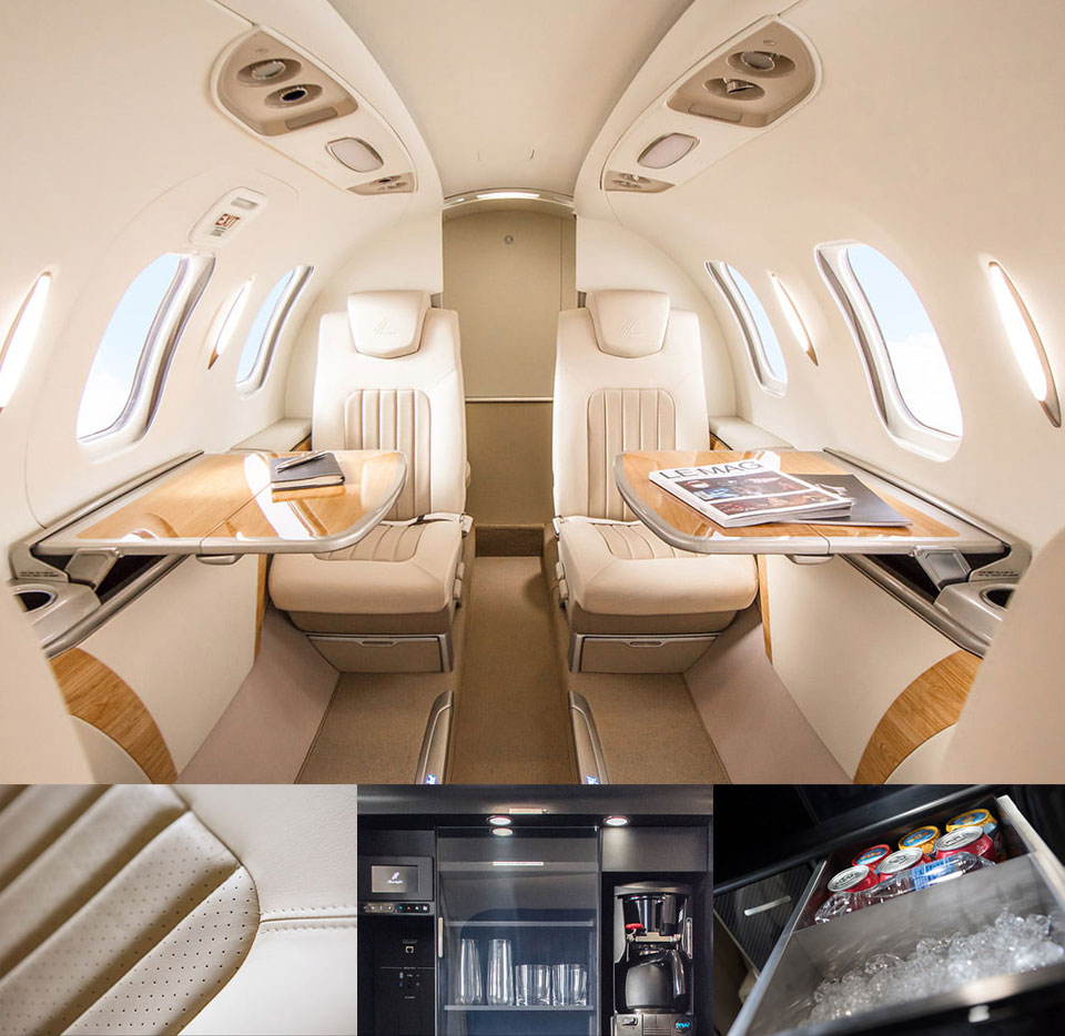 HondaJet Elite Stylish Cabin