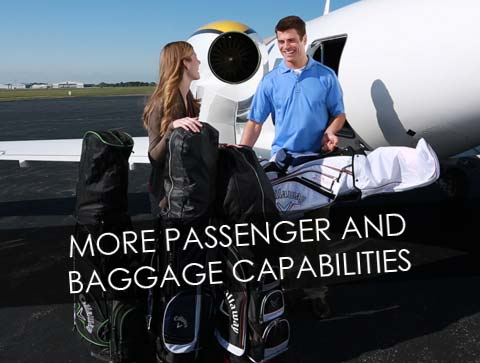 MORE PASSENGER AND BAGGAGE CAPABILITIES