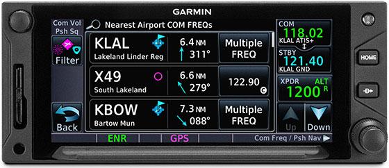 GTN 650Xi Instant Recall