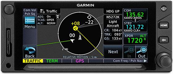 GTN 650Xi Targettrend Tracking