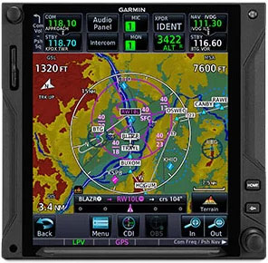 GTN 650Xi Virtual Map Topography