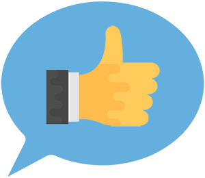 Testimonial Icon Thumbs Up