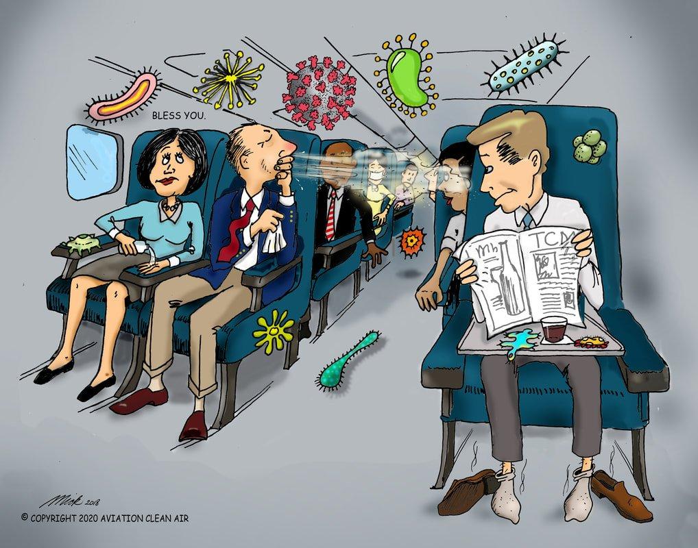 Aircraft Clean Air Cartoon