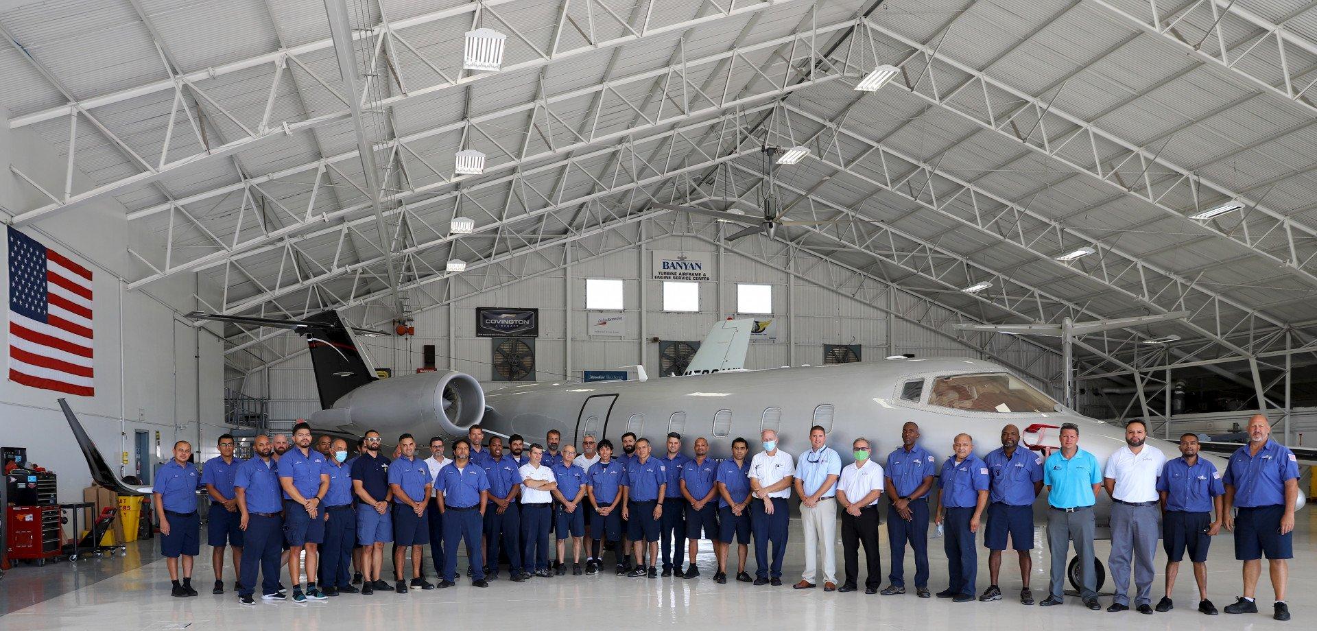Airplane hangar for hurricane